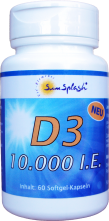 SunSplash Vitamin D3 10.000 I.E.