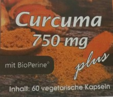 Curcuma 750mg plus (BioPerine® zur hohen Bioverfügbarkeit)